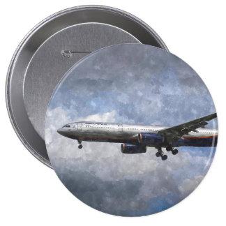 Aeroflot Airbus A330 Art Pinback Button