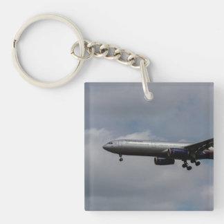 Aeroflot Airbus A330 Llavero Cuadrado Acrílico A Una Cara