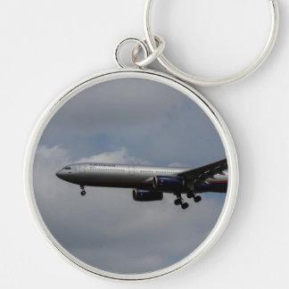 Aeroflot Airbus A330 Llavero Redondo Plateado