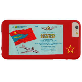Aeroflot Passenger Ticket Barely There iPhone 6 Plus Case