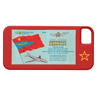 Aeroflot Passenger Ticket iPhone SE/5/5s Case