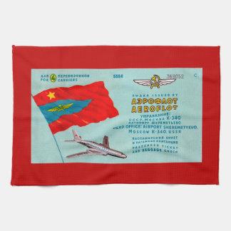 Aeroflot Passenger Ticket Kitchen Towels