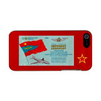 Aeroflot Passenger Ticket Metallic iPhone SE/5/5s Case
