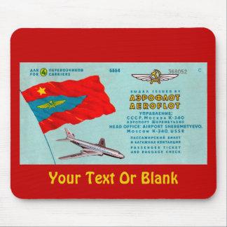 Aeroflot Passenger Ticket Mouse Pad