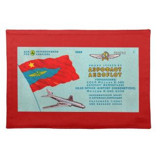 Aeroflot Passenger Ticket Cloth Placemat