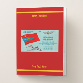Aeroflot Passenger Ticket Pocket Folder