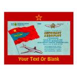 Aeroflot Passenger Ticket Postcard