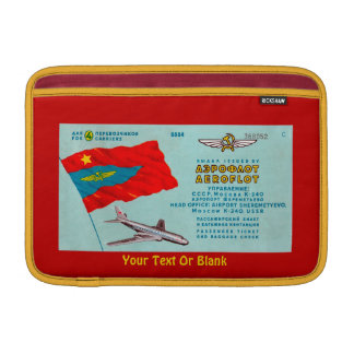 Aeroflot Passenger Ticket Sleeve For MacBook Air
