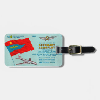 Aeroflot Passenger Ticket Tag For Luggage