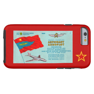 Aeroflot Passenger Ticket Tough iPhone 6 Case