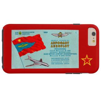 Aeroflot Passenger Ticket Tough iPhone 6 Plus Case