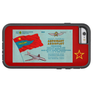 Aeroflot Passenger Ticket Tough Xtreme iPhone 6 Case