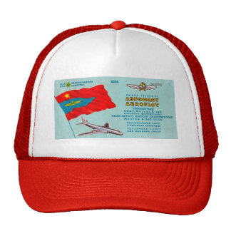 Aeroflot Passenger Ticket Trucker Hat
