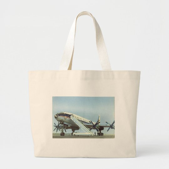 Aeroflot Tu 114 AIRLINER Large Tote Bag