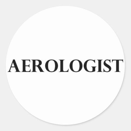Aerologist Round Sticker