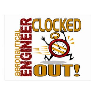 Aeronautical Engineer Clocked Out Postcard