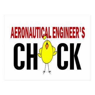 Aeronautical Engineer's Chick Postcard