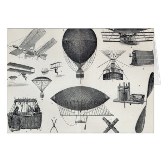 Aeronautics - Aerial Machines Card