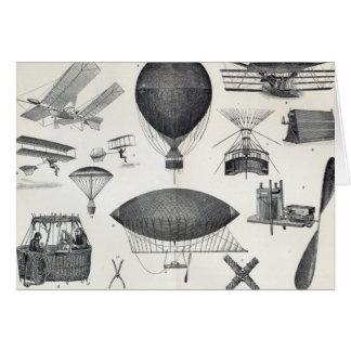Aeronautics - Aerial Machines Greeting Card