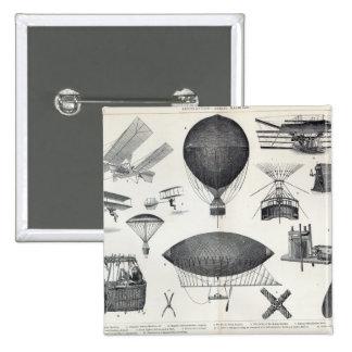 Aeronautics - Aerial Machines Pinback Button