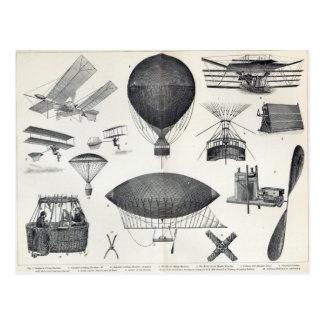 Aeronautics - Aerial Machines Postcard