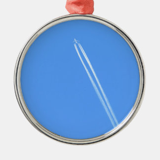 Aeroplane and Vapour Trail Metal Ornament