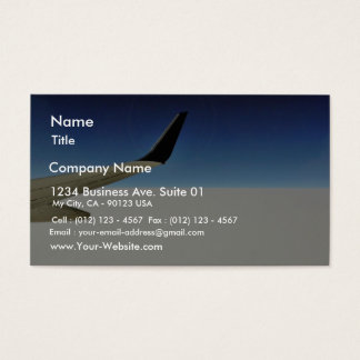 Aeroplane In The Sky Business Card