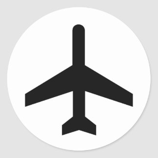 Aeroplane Lovers products! Classic Round Sticker