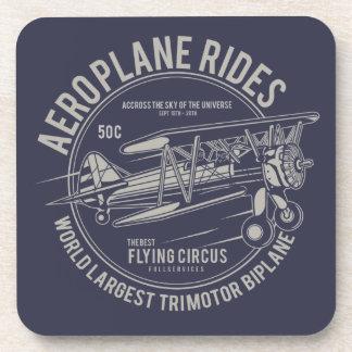 Aeroplane rides flying circus | Airplane Gifts Coaster