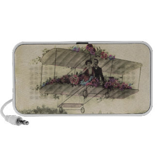 AEROPLANE ROMANCE Early Aviation Romantic iPod Speakers