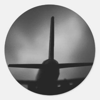 Aeroplane Round Stickers