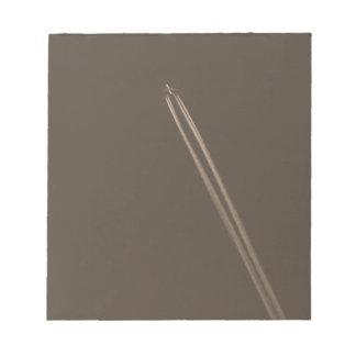 Aeroplane Vapour Trail Note Pad