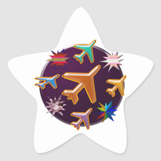 Aeroplanes Star Sticker