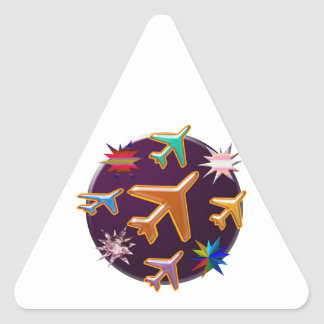 Aeroplanes Triangle Stickers