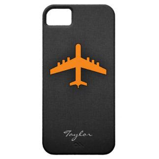 Aeroplano anaranjado iPhone 5 funda