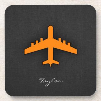 Aeroplano anaranjado posavaso