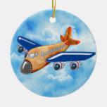 Aeroplano asombroso ornamento de navidad