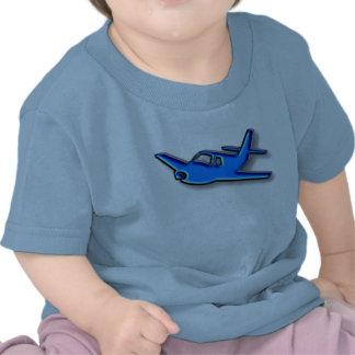 aeroplano azul camiseta