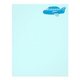 Aeroplano azul plantilla de membrete