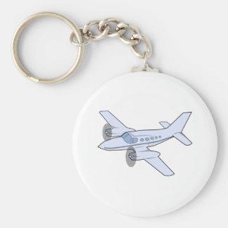 Aeroplano bimotor llavero redondo tipo pin