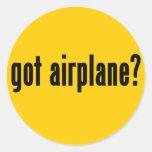 ¿aeroplano conseguido? pegatina