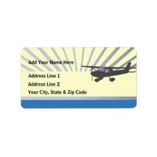 Aeroplano de Cessna 150 Etiquetas De Dirección