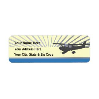 Aeroplano de Cessna 150 Etiqueta De Remite