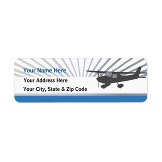 Aeroplano de Cessna 150 Etiqueta De Remitente