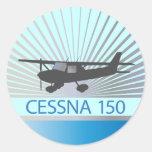 Aeroplano de Cessna 150 Etiqueta Redonda