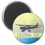 Aeroplano de Cessna 150 Imán Redondo 5 Cm