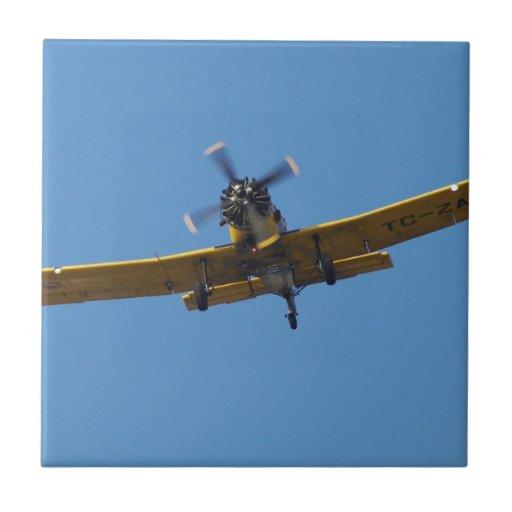 Aeroplano de Cropsprayer Azulejo Cuadrado Pequeño