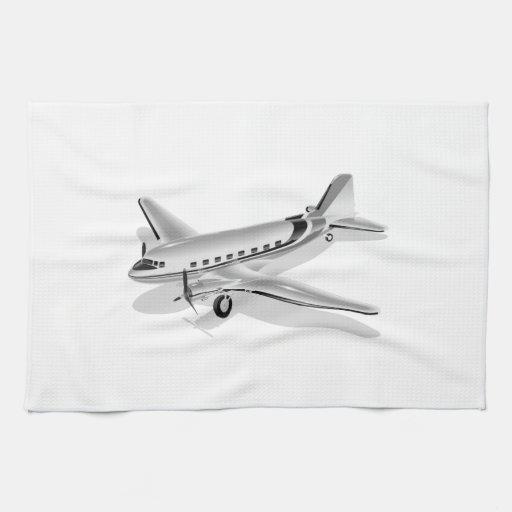 Aeroplano de Douglas DC-3 Toallas De Cocina