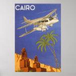 Aeroplano de El Cairo Egipto África del poster del