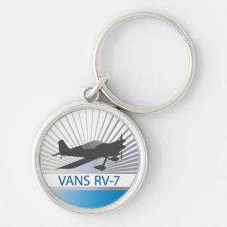 Aeroplano de las furgonetas RV-7 Llavero Redondo Plateado